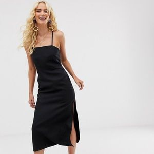 & Other Stories Black Linen Dress